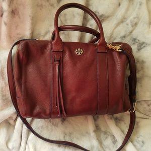 Tory Burch Brody Burgundy satchel Large